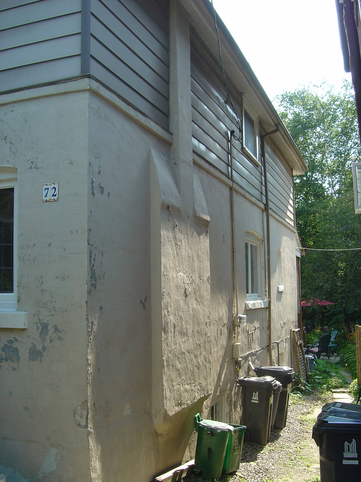 Exterior House Stucco Repair & Restoration Contractor - Before and After