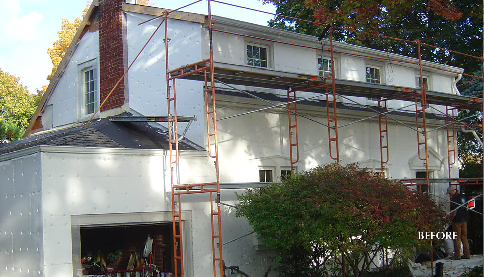 Before Stucco - Home Insulation Installation
