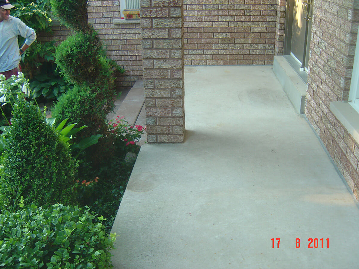 Stamped Concrete Porch - Concrete Repair and Resurface - Jewel Stone