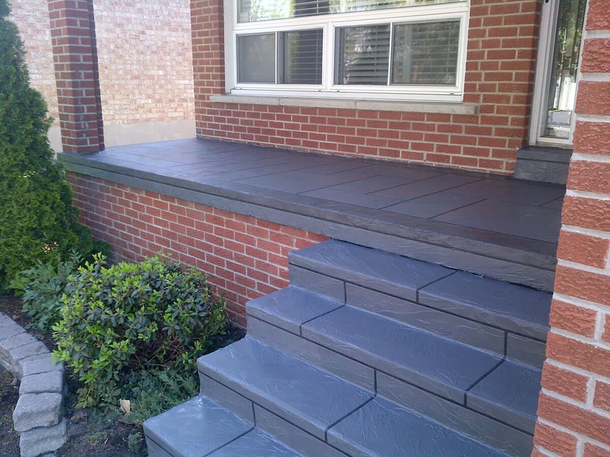 Stamped Concrete Steps - Porch & Walkway Concrete Resurface