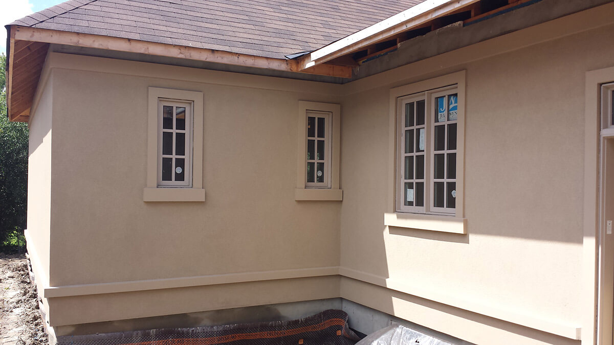 Home Renovation - Stucco Finish Example