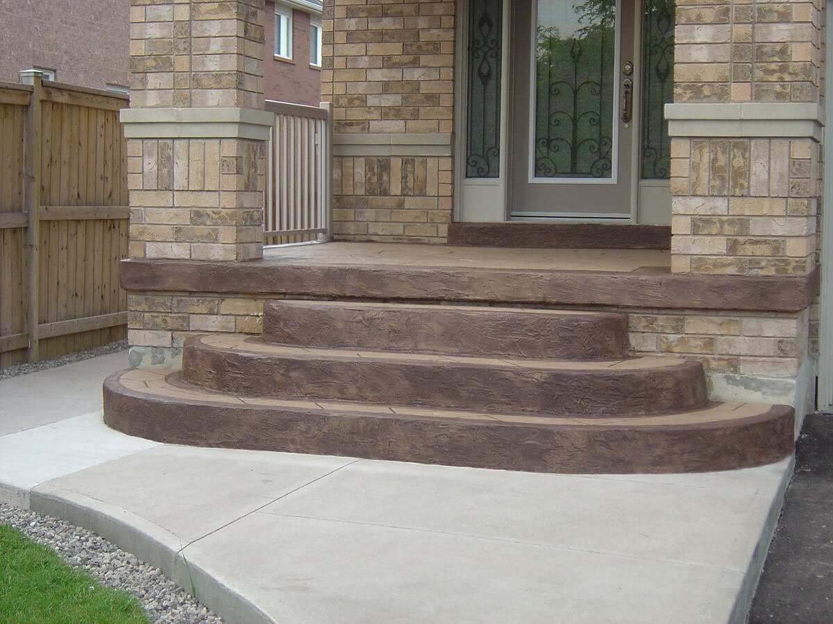 Home Steps - Colored Cement Overlay