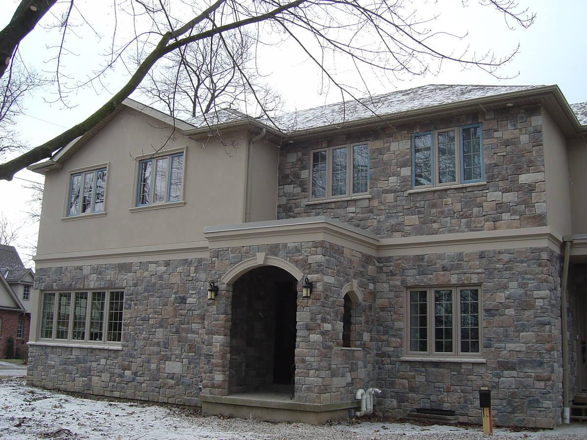 Home Renovation - Stucco and Natural Stone Overlay