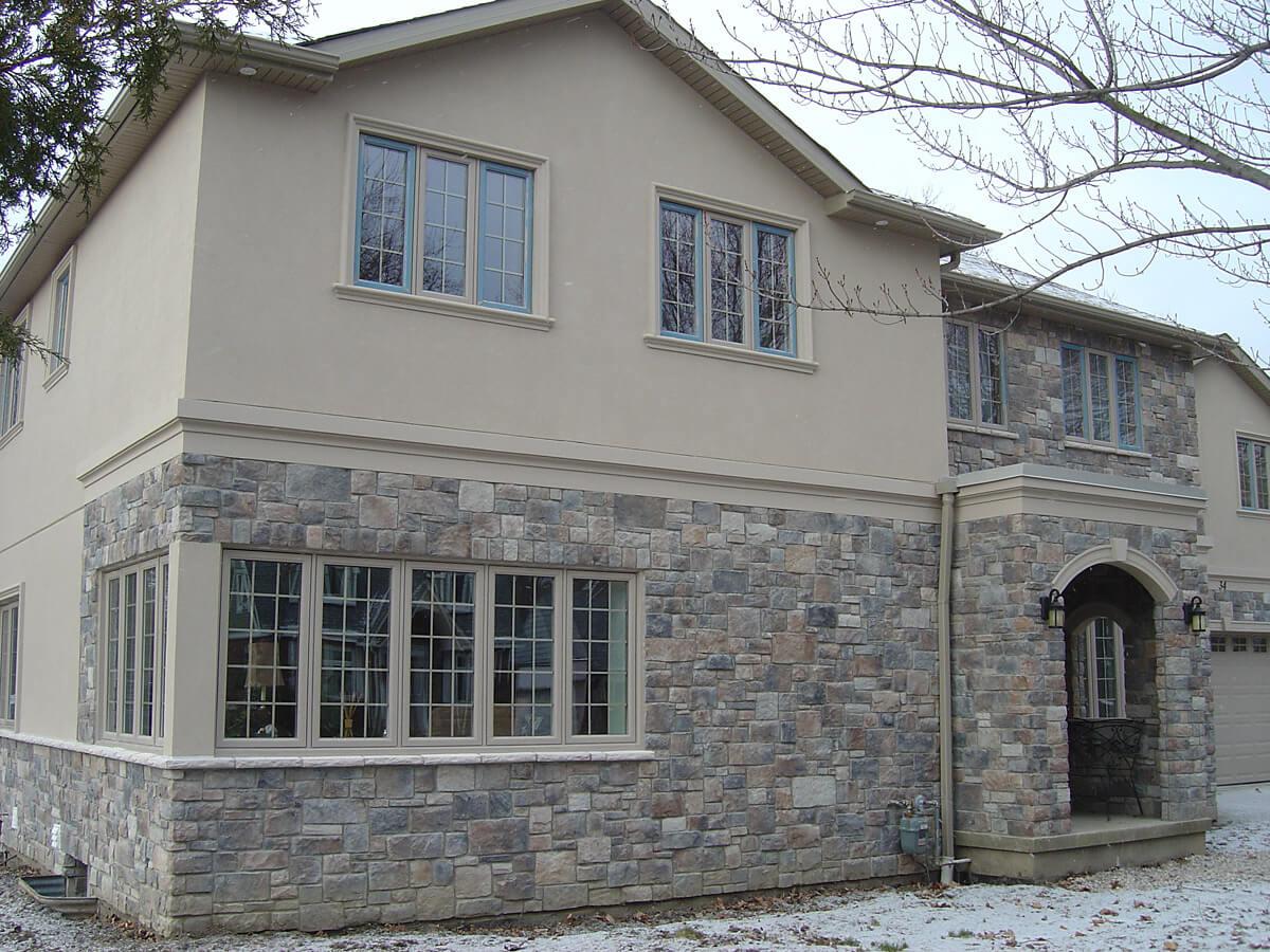 Home Exterior Stucco and Stone Design Examples