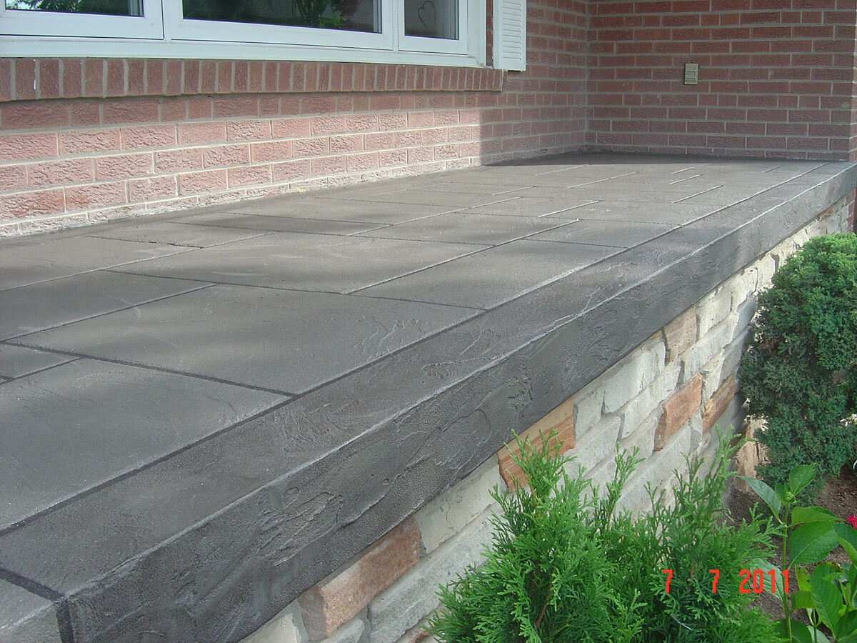 House front porch sealed with Decorative Concrete Application - Jewel Stone