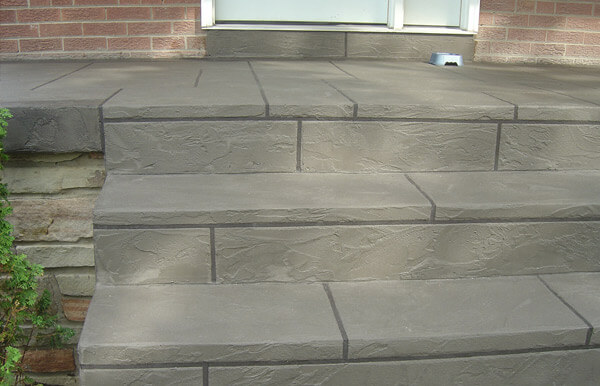 House Steps covered with Decorative Cement Overlay