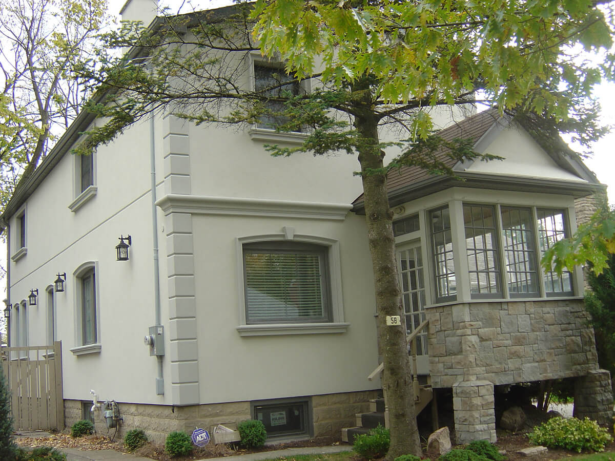 Exterior Stone and Stucco by Building Blocks Construction