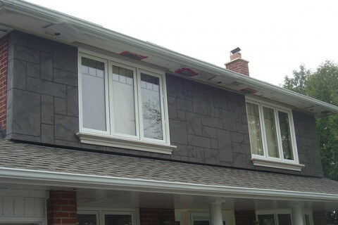 York Mills Rd, Scarborough – Front wall/house stucco