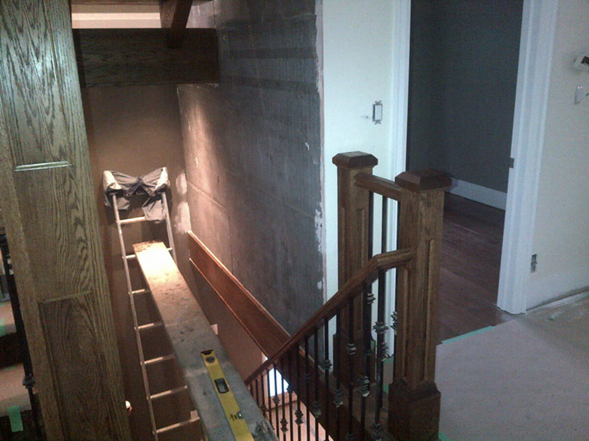 Indoor Natural Stone Wall - Staircase
