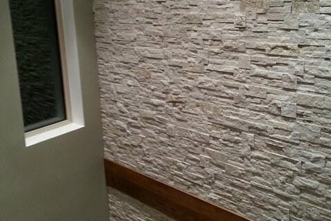 Indoor Stone Veneer Installation – Halton Hills, Ontario