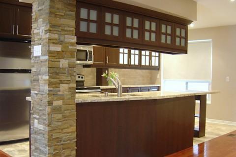 Interior Stone Veneer – Townhouse, Mississauga
