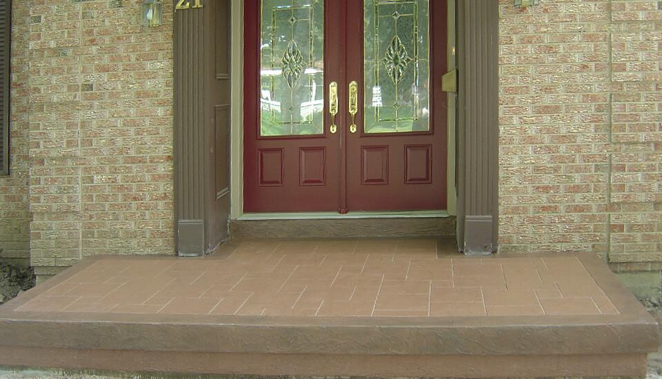 Front Porch Concrete Repair and Restoration