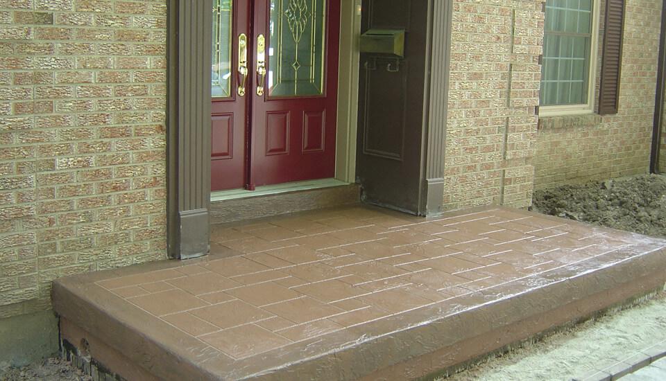 Front Entrance Concrete Slab