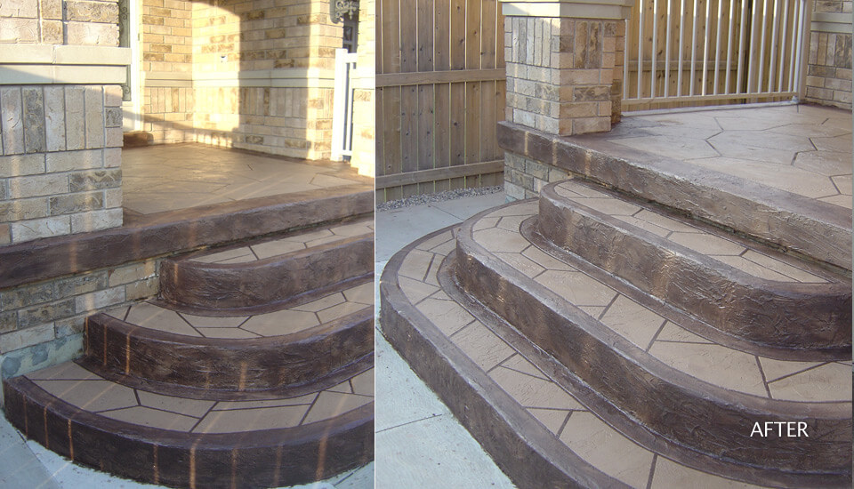 Custom Concrete Steps and Stairways
