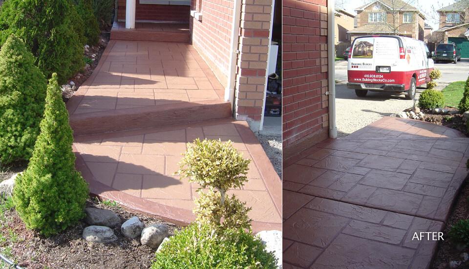Custom Concrete Walkway Design