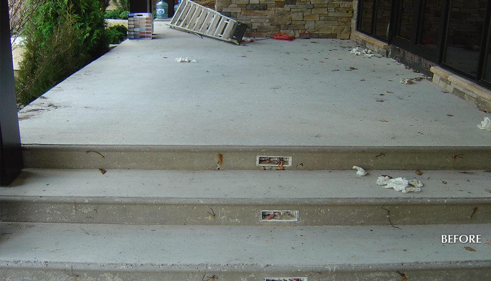 Before - Concrete Slab Design Ideas