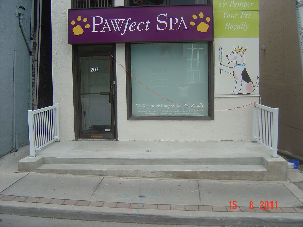 After Concrete Repair - Store Front Steps