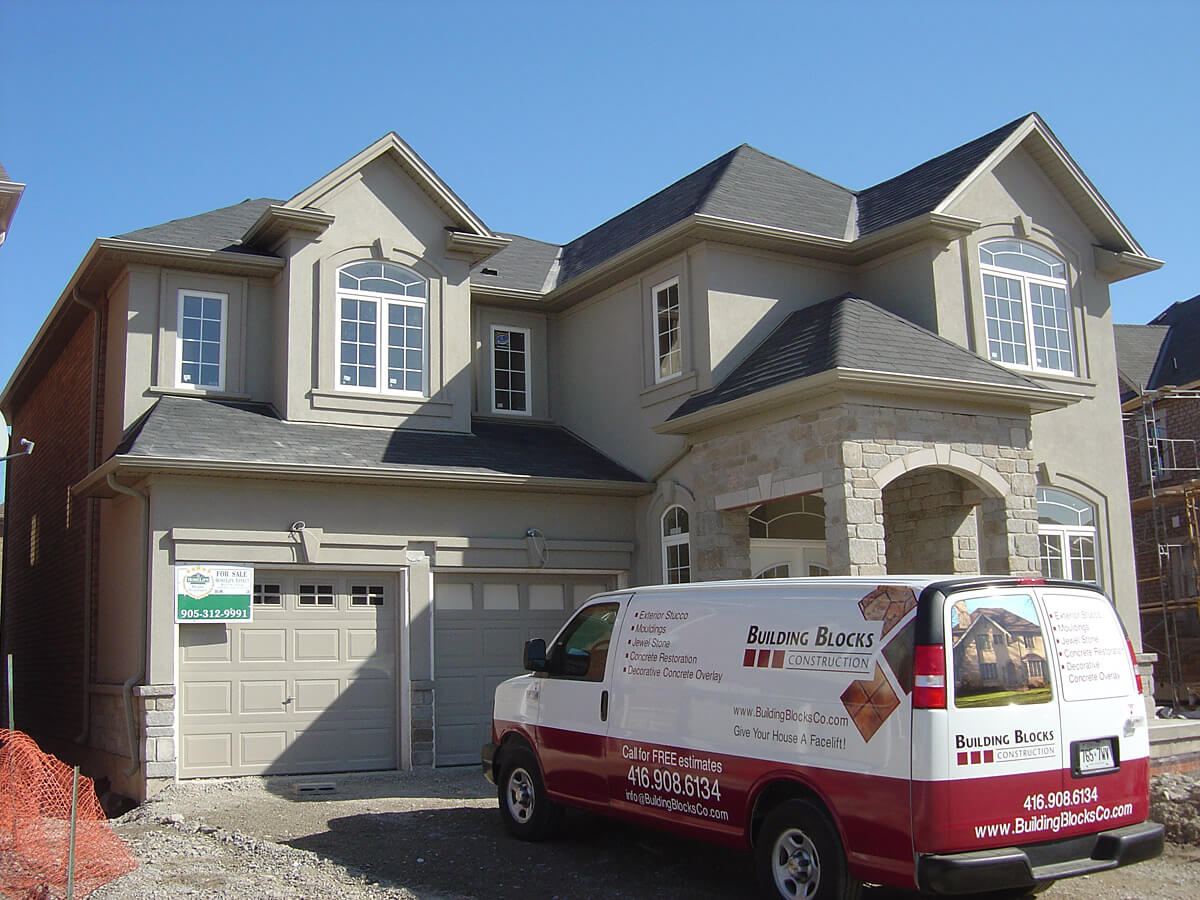 New home construction - Stucco and Stone Contractor