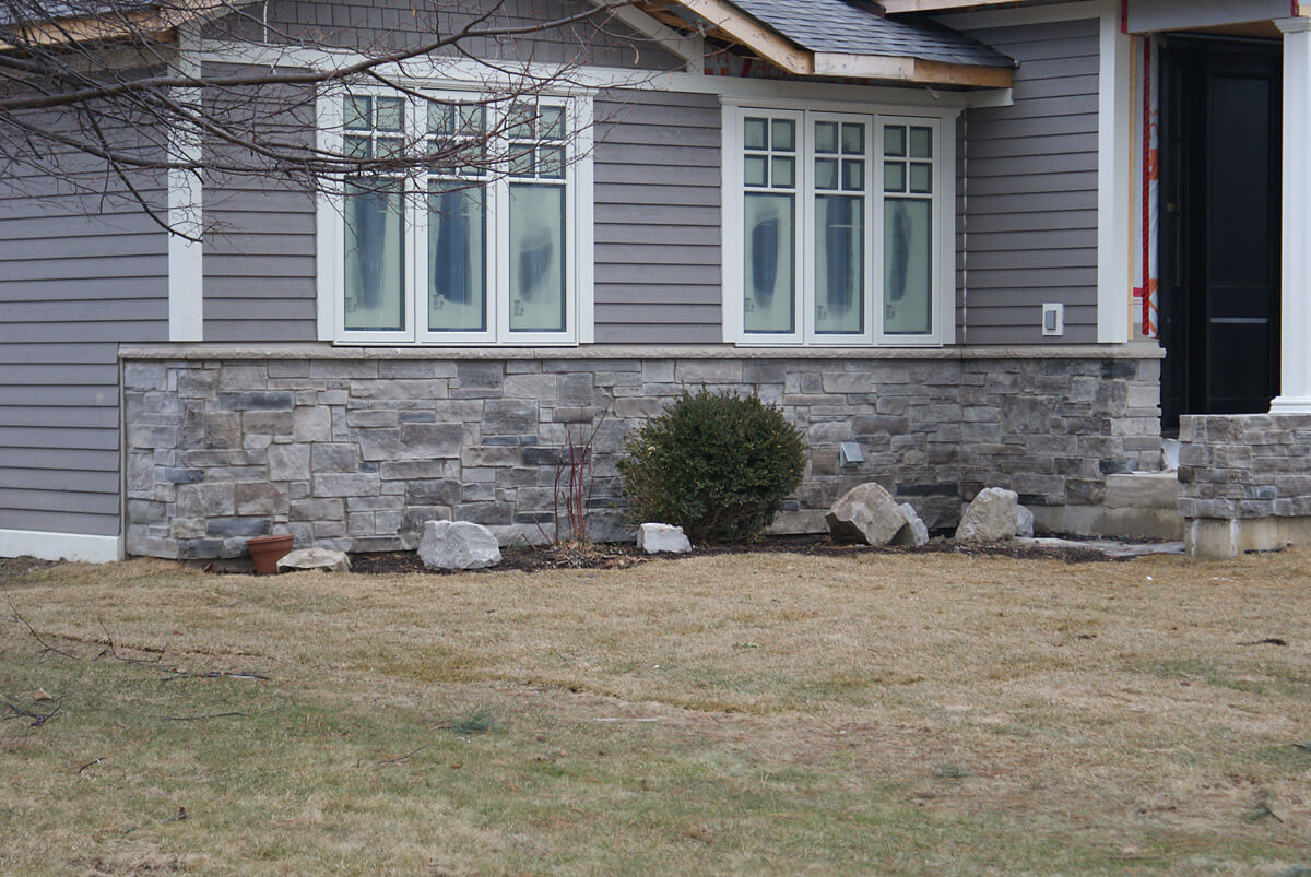 Outside view - Stone wall
