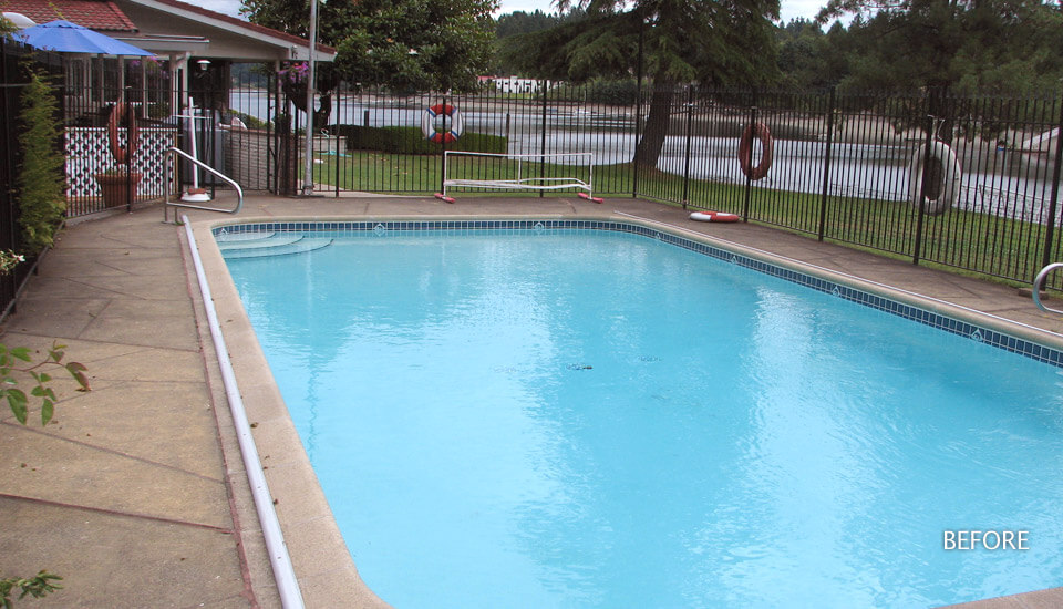 Pool Deck Damage