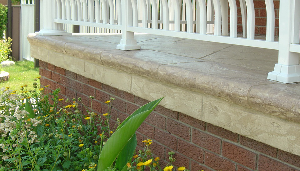 Outside home porch with Decorative Concrete Overlay