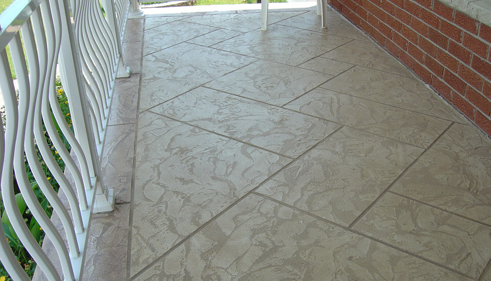 House Porch with Decorative Concrete Overlay