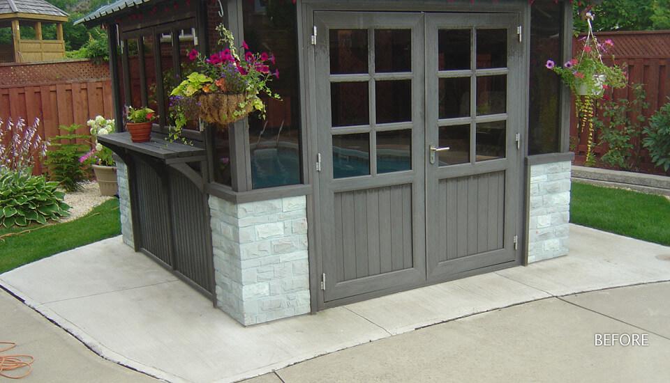 Backyard Patio - Concrete Slab - Before