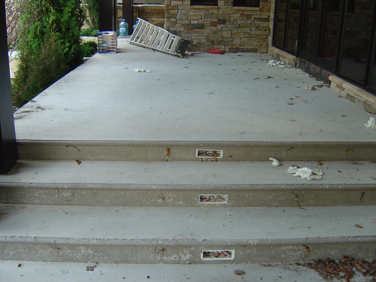 New concrete slab steps before coating