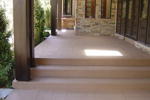 Private Residence – Jewel Stone Application on Concrete Walkway and Porch