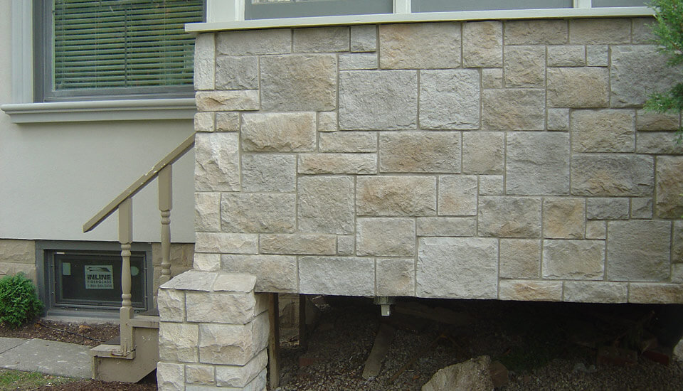 Natural Stone Application on Front Porch