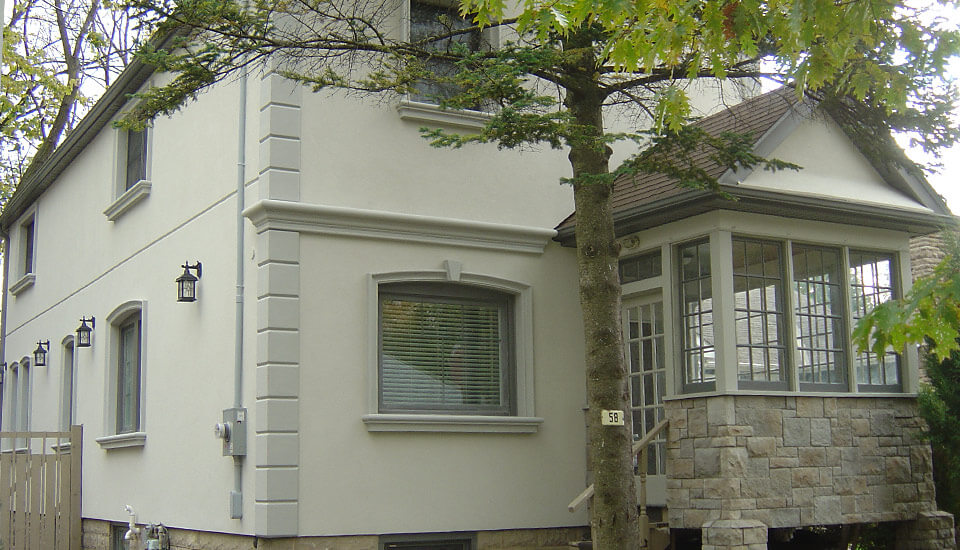 Stone and Stucco for exterior application