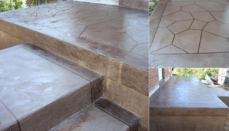 House patio, steps, porch and veranda - Decorative Concrete Designs