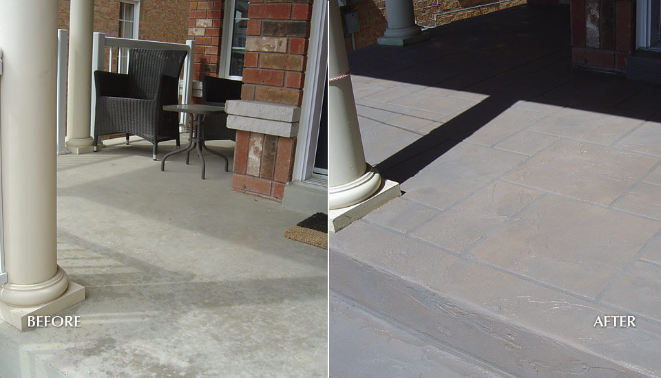 Front Porch Repair - Concrete Resurfacing and Restoration