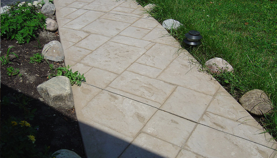 Restored Concrete Walkway