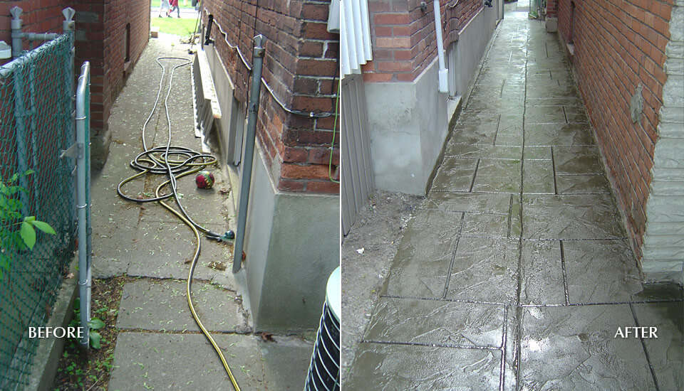 Before and After Damaged Concrete Repair