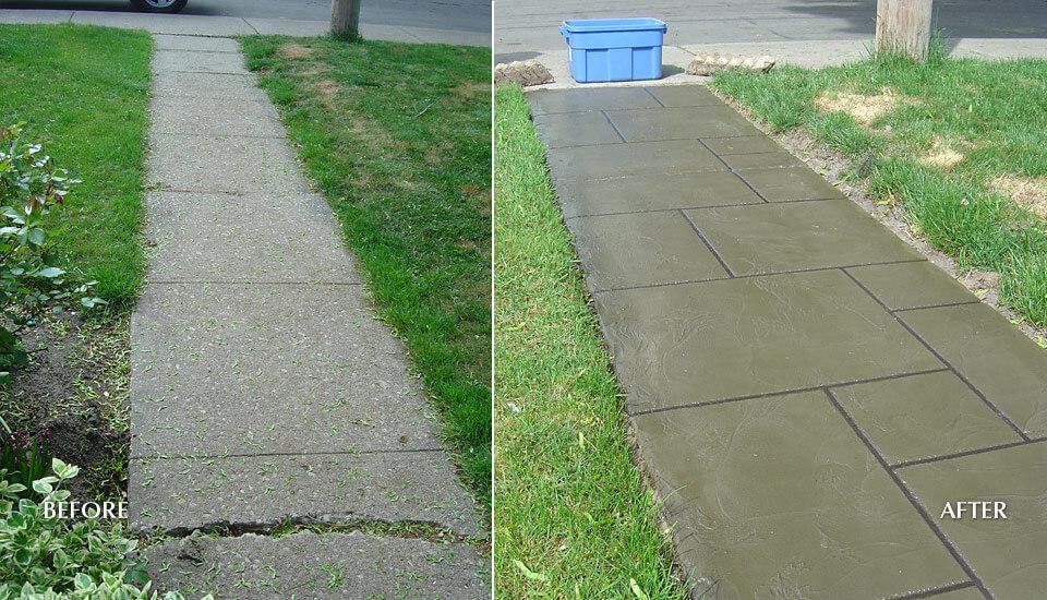 Concrete Slab Walkway / Sidewalk- Before & After